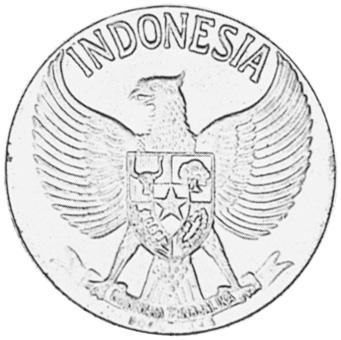 Indonesia 50 Sen reverse