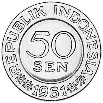 Indonesia 50 Sen obverse