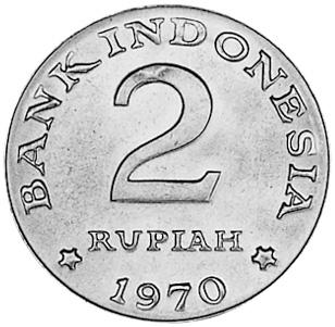Indonesia 2 Rupiah obverse