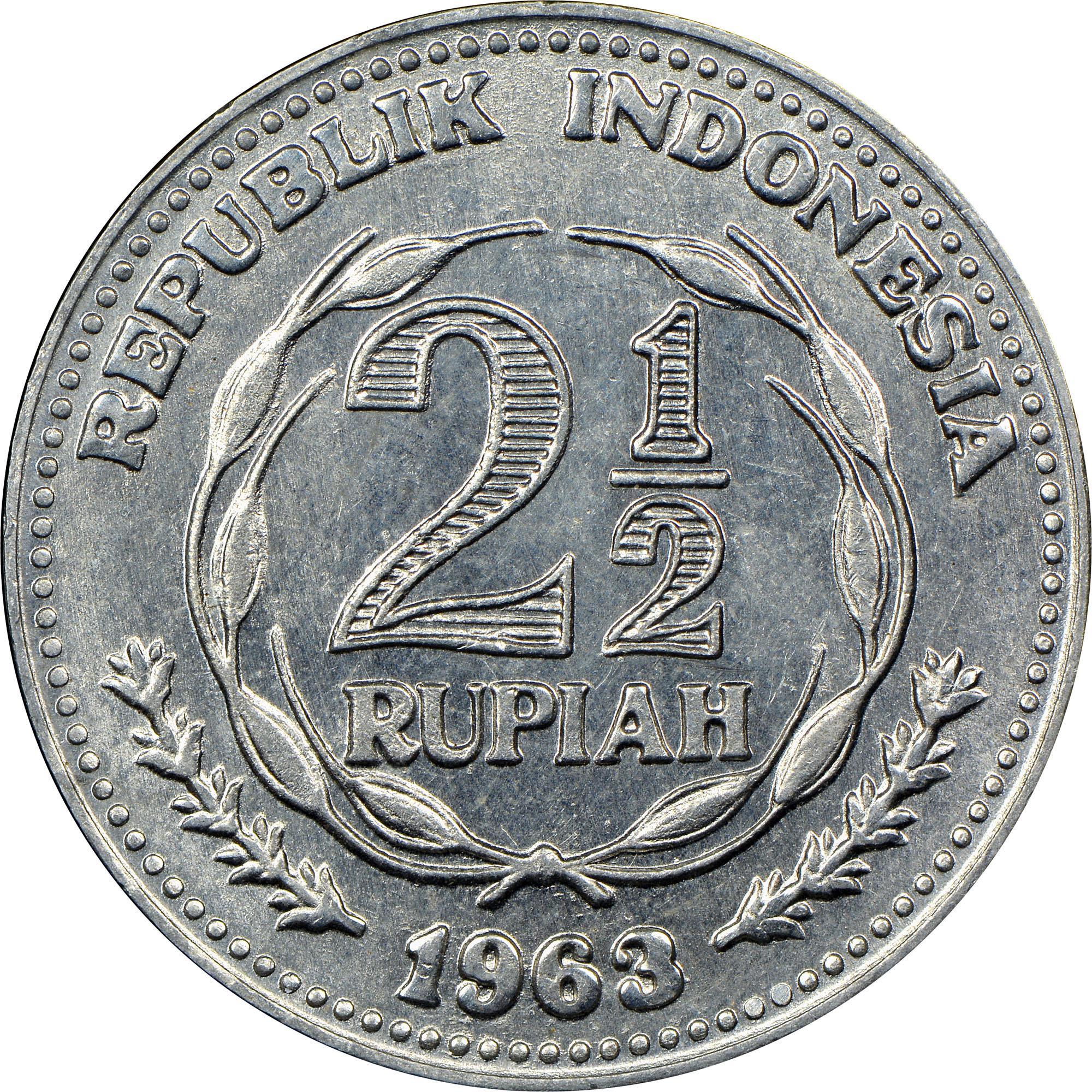 Indonesia 2-1/2 Rupiah reverse