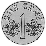 Singapore Cent reverse
