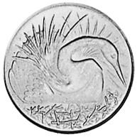 Singapore 5 Cents reverse