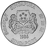 Singapore 5 Cents obverse