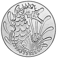 Singapore 10 Cents reverse