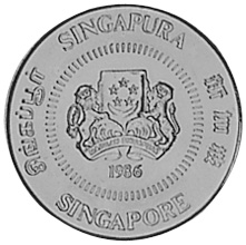 Singapore 10 Cents obverse