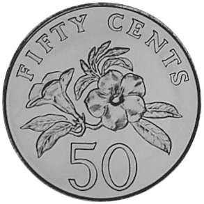 Singapore 50 Cents reverse