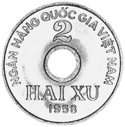 Viet Nam NORTH VIET NAM 2 Xu reverse