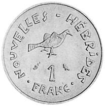 New Hebrides Franc reverse