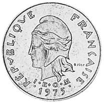 New Hebrides Franc obverse