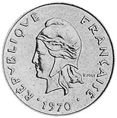 New Hebrides 2 Francs obverse