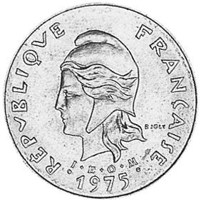 New Hebrides 5 Francs obverse