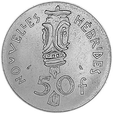 New Hebrides 50 Francs reverse