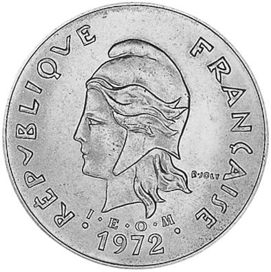 New Hebrides 50 Francs obverse