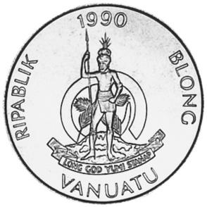 Vanuatu 5 Vatu obverse