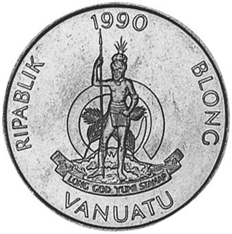 Vanuatu 20 Vatu obverse