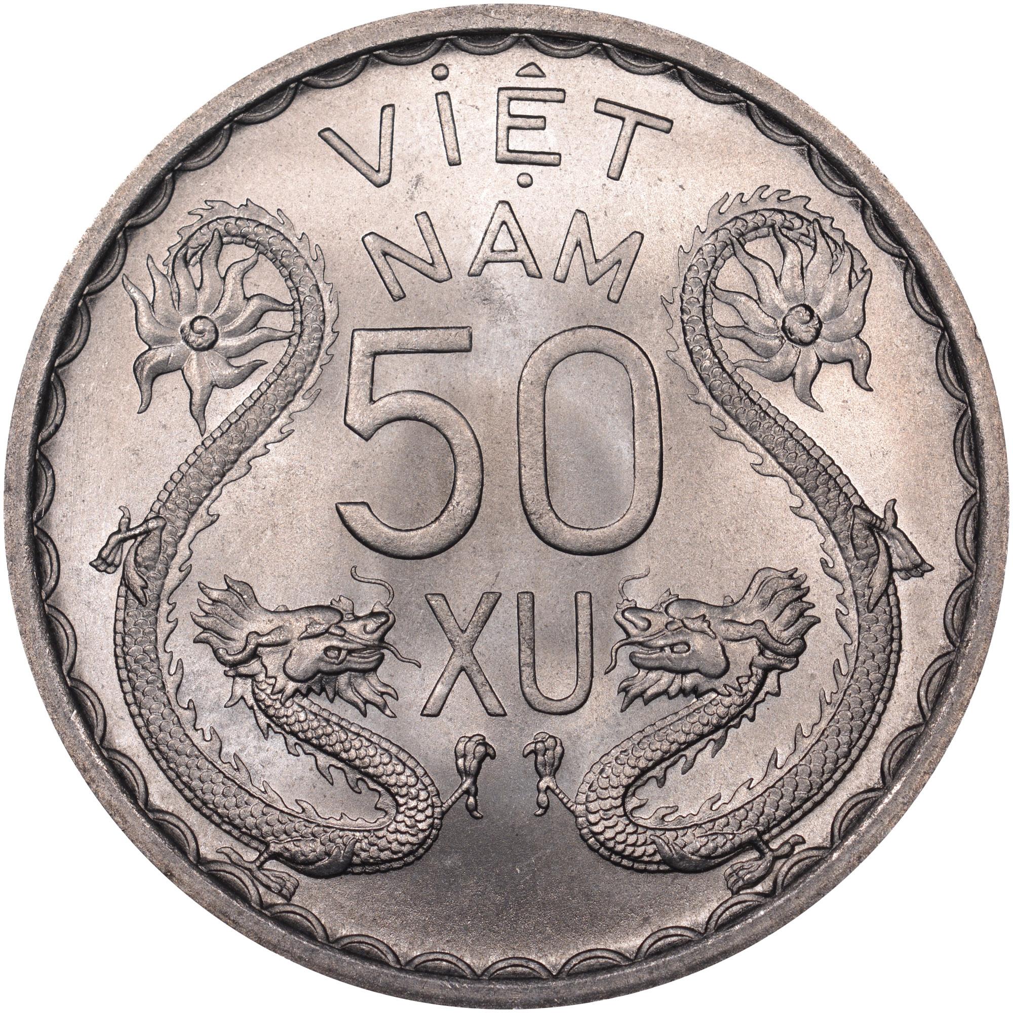Viet Nam STATE OF SOUTH VIET NAM 50 Xu reverse