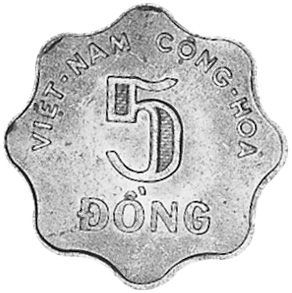 Viet Nam STATE OF SOUTH VIET NAM 5 Dong obverse