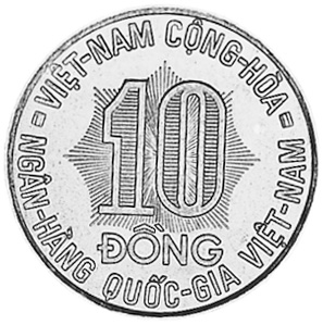 Viet Nam STATE OF SOUTH VIET NAM 10 Dong obverse