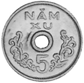 Viet Nam STATE OF SOUTH VIET NAM 5 Xu reverse