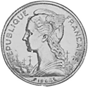 Reunion 20 Francs obverse