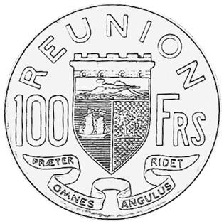 Reunion 100 Francs reverse