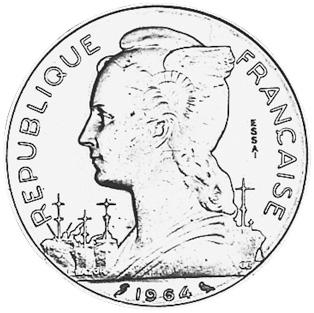 Reunion 100 Francs obverse