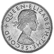 Rhodesia And Nyasaland 6 Pence obverse