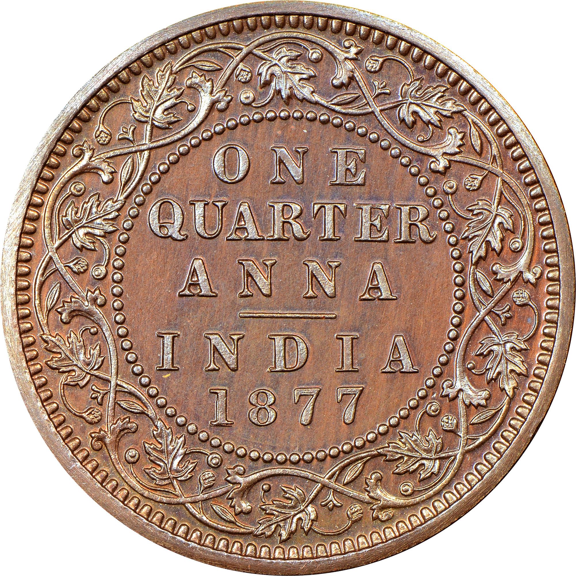 India-British 1/4 Anna reverse
