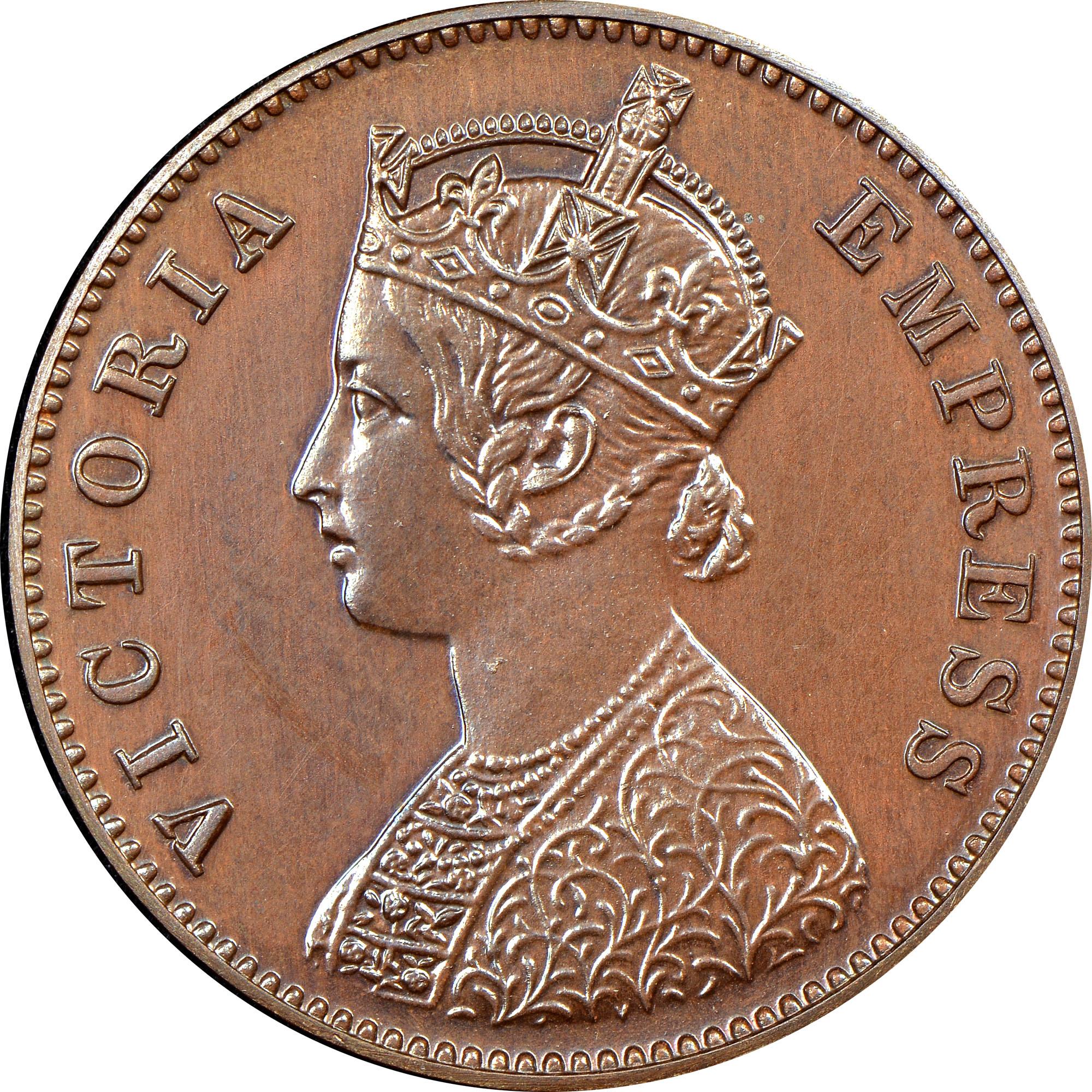 India-British 1/4 Anna obverse