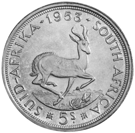South Africa 5 Shillings reverse