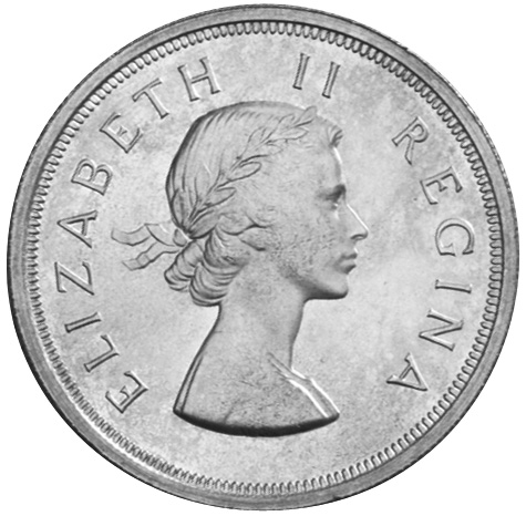South Africa 5 Shillings obverse