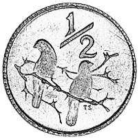 Image result for south african 1/2 cent coin