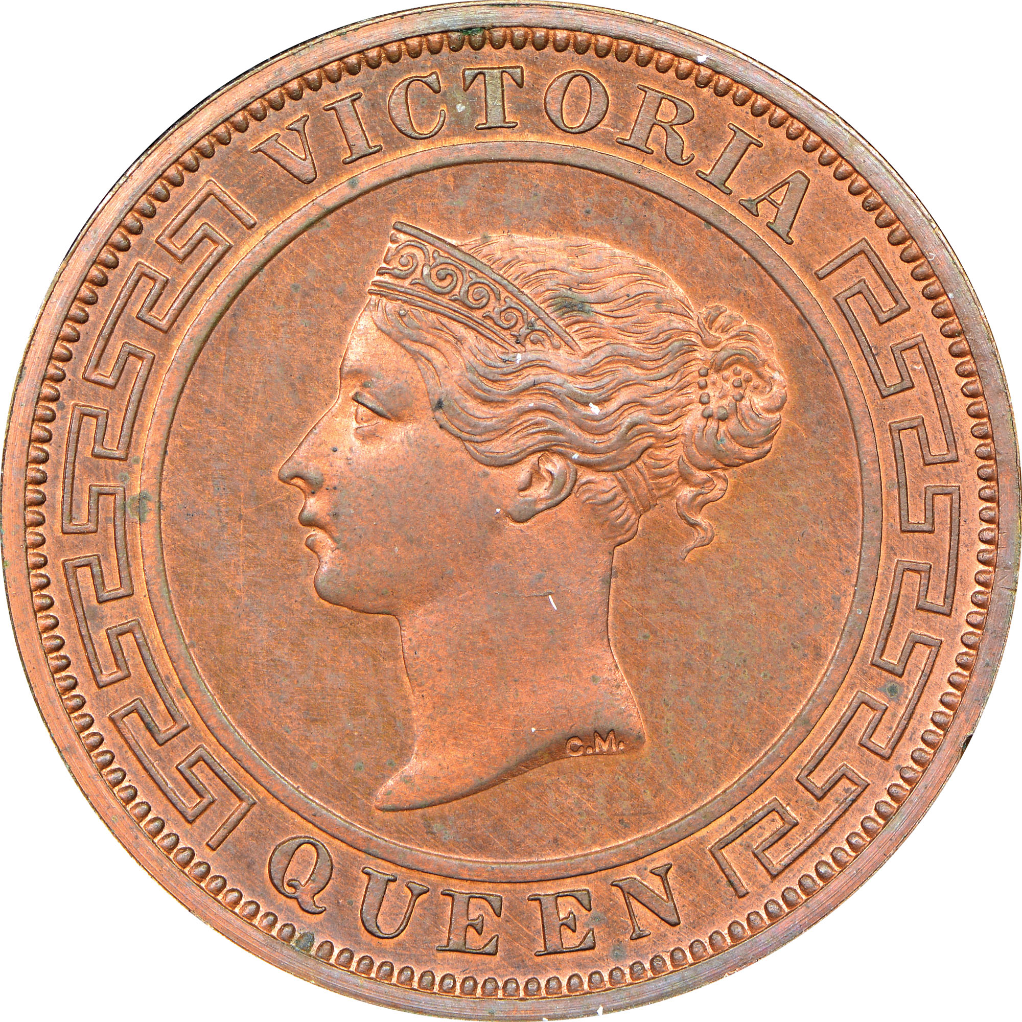1870-1901 Ceylon Cent obverse