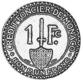Monaco Franc reverse