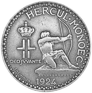 Monaco 2 Francs obverse