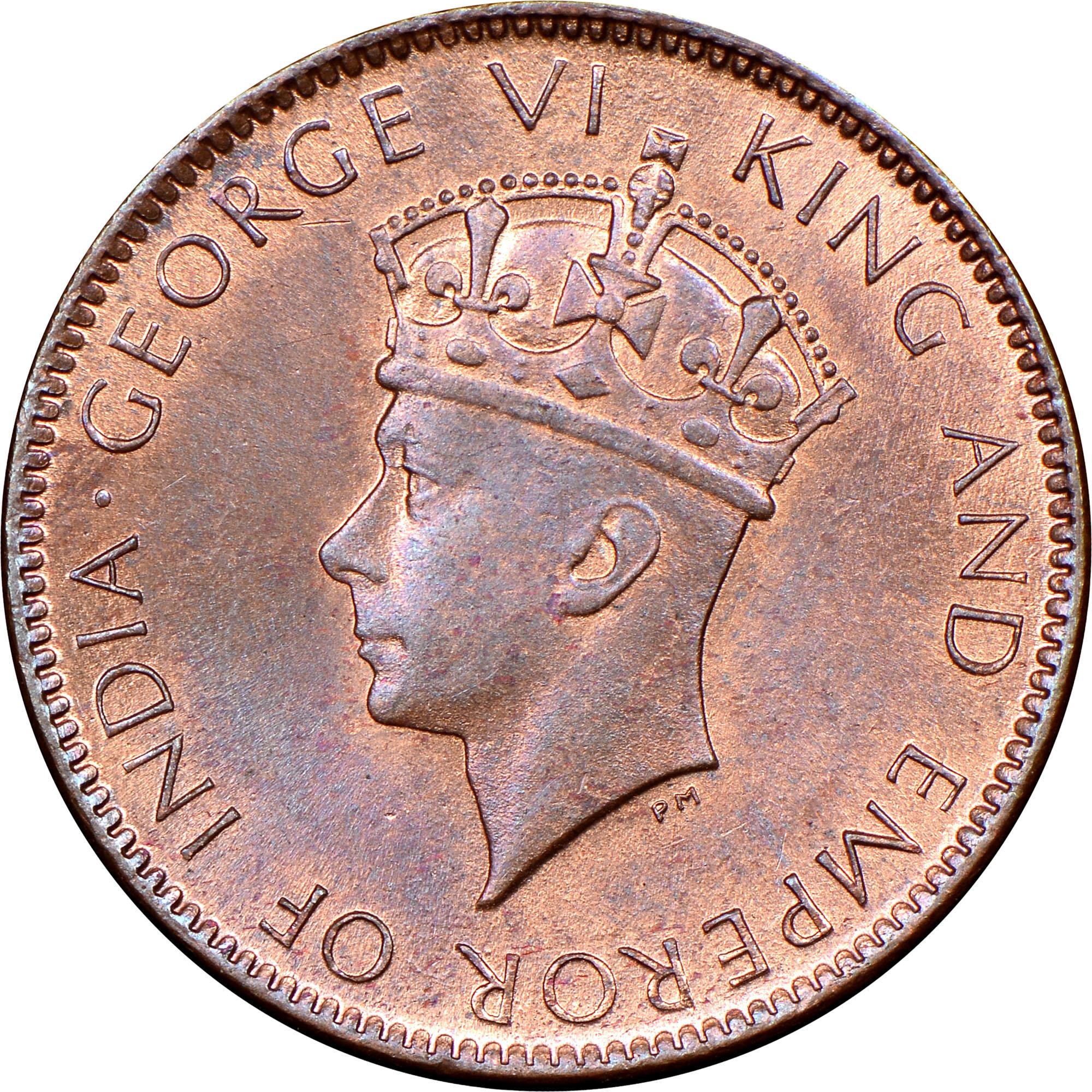 1937-1942 Ceylon Cent obverse