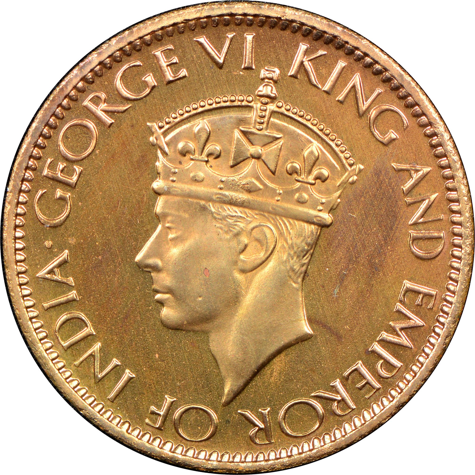 1942-1945 Ceylon Cent obverse