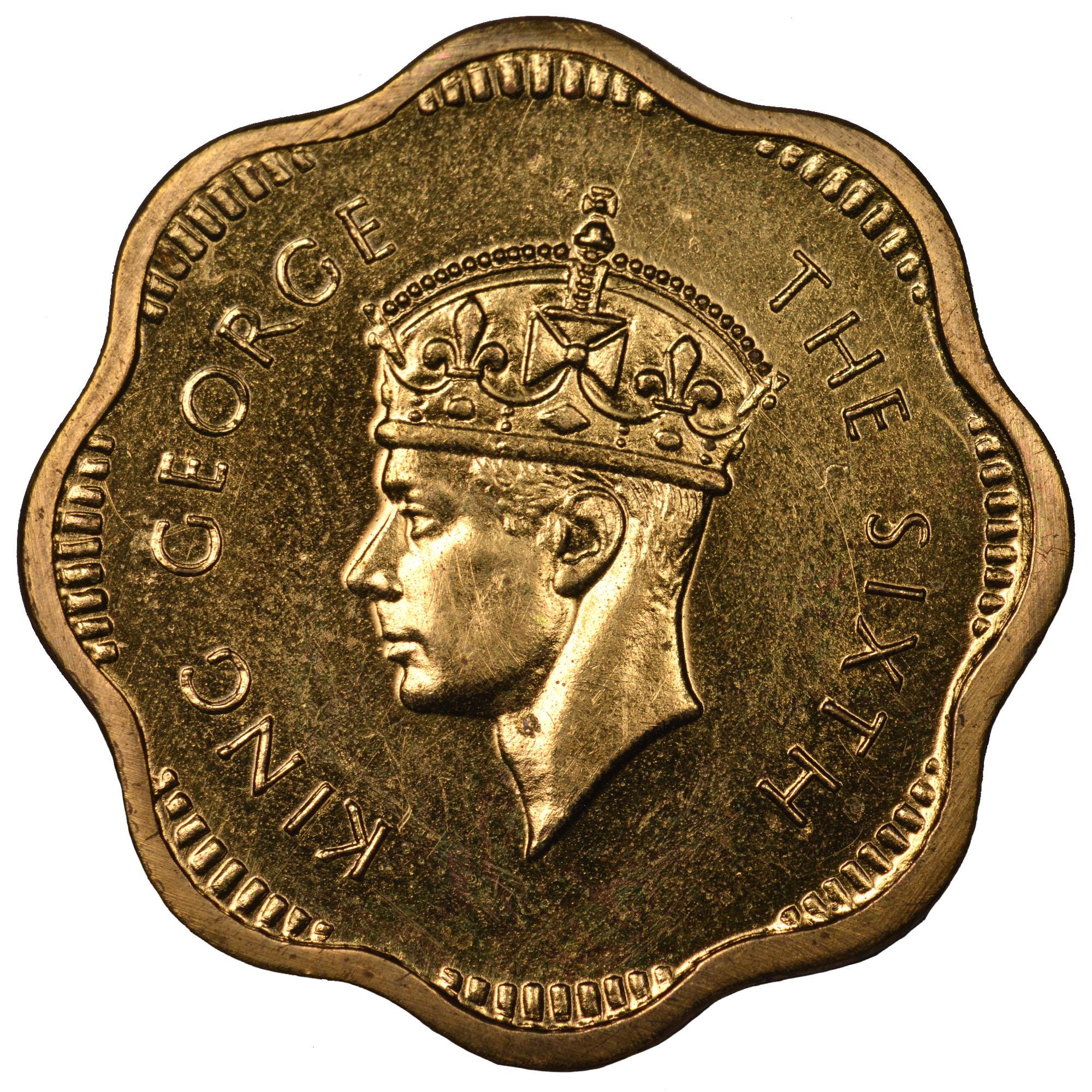 Ceylon 2 Cents obverse