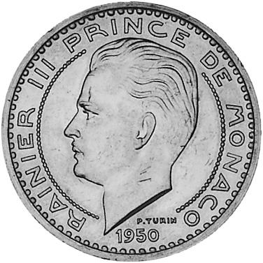 Monaco 50 Francs obverse