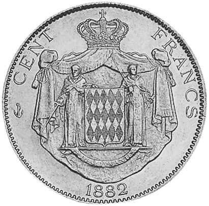 Monaco 100 Francs reverse