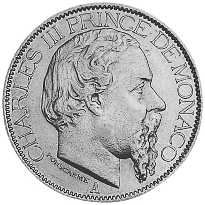 Monaco 100 Francs obverse