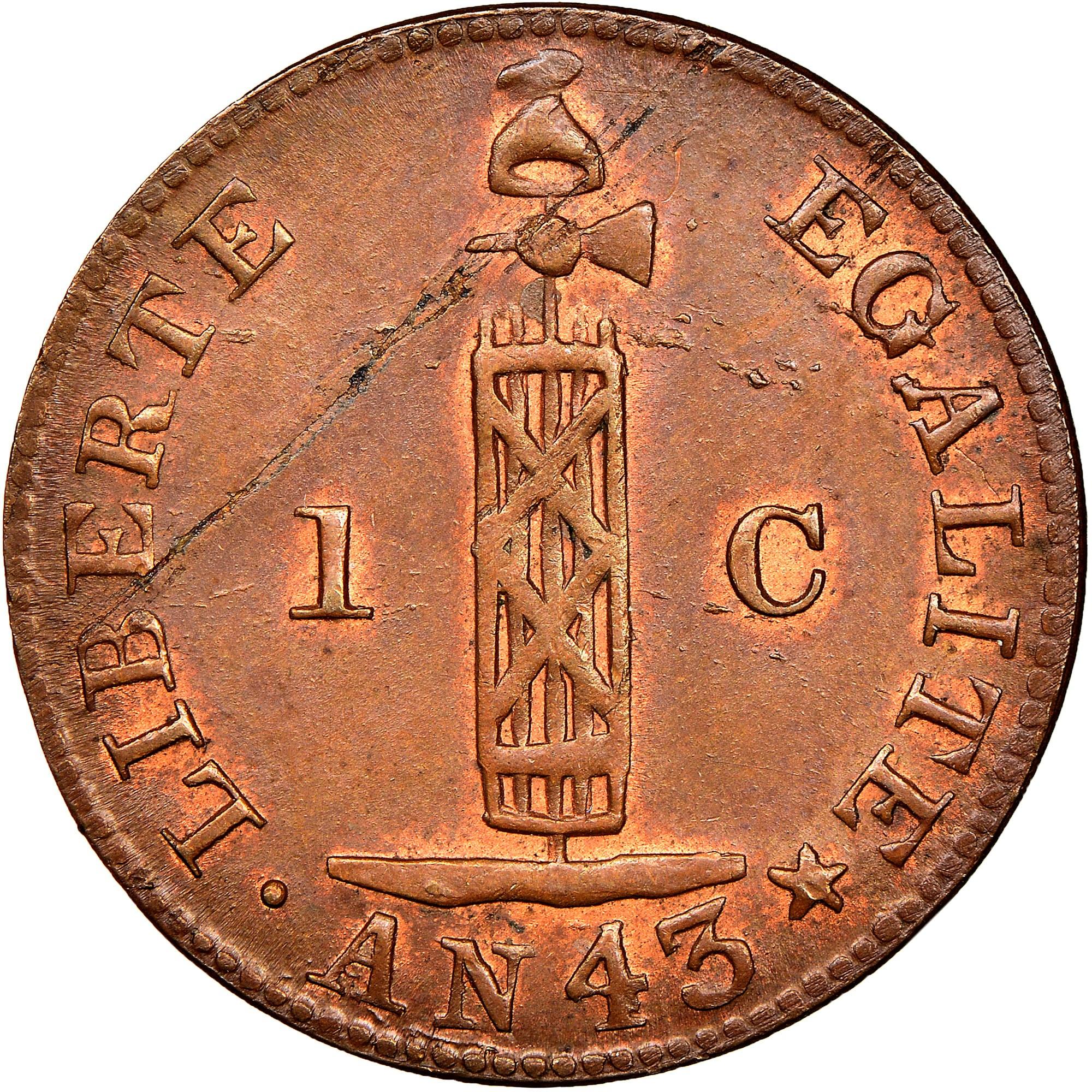 Haiti Centime reverse