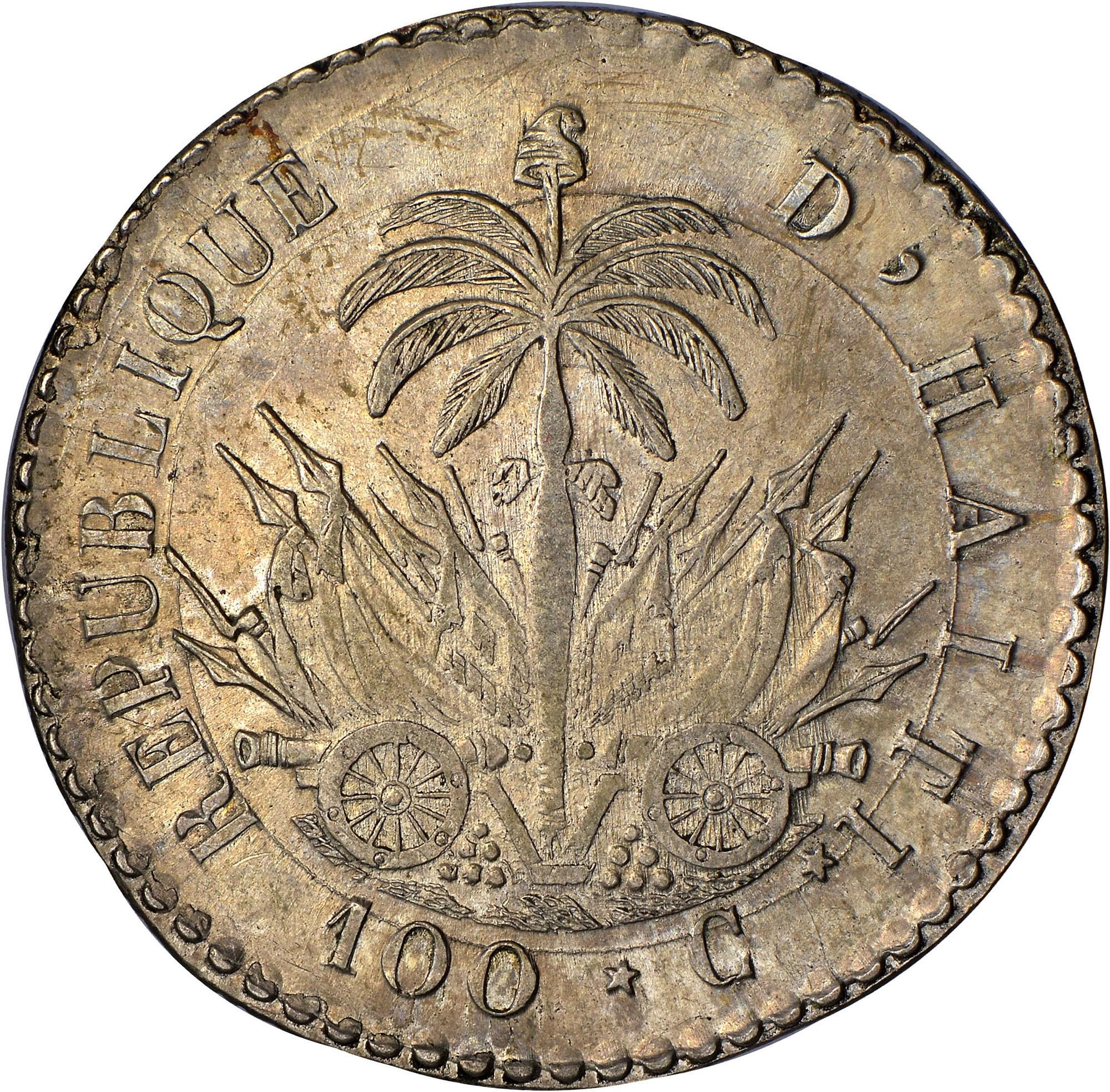 Haiti 100 Centimes reverse