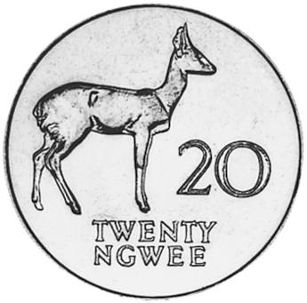 Zambia 20 Ngwee reverse
