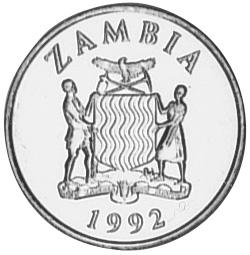 Zambia 25 Ngwee obverse