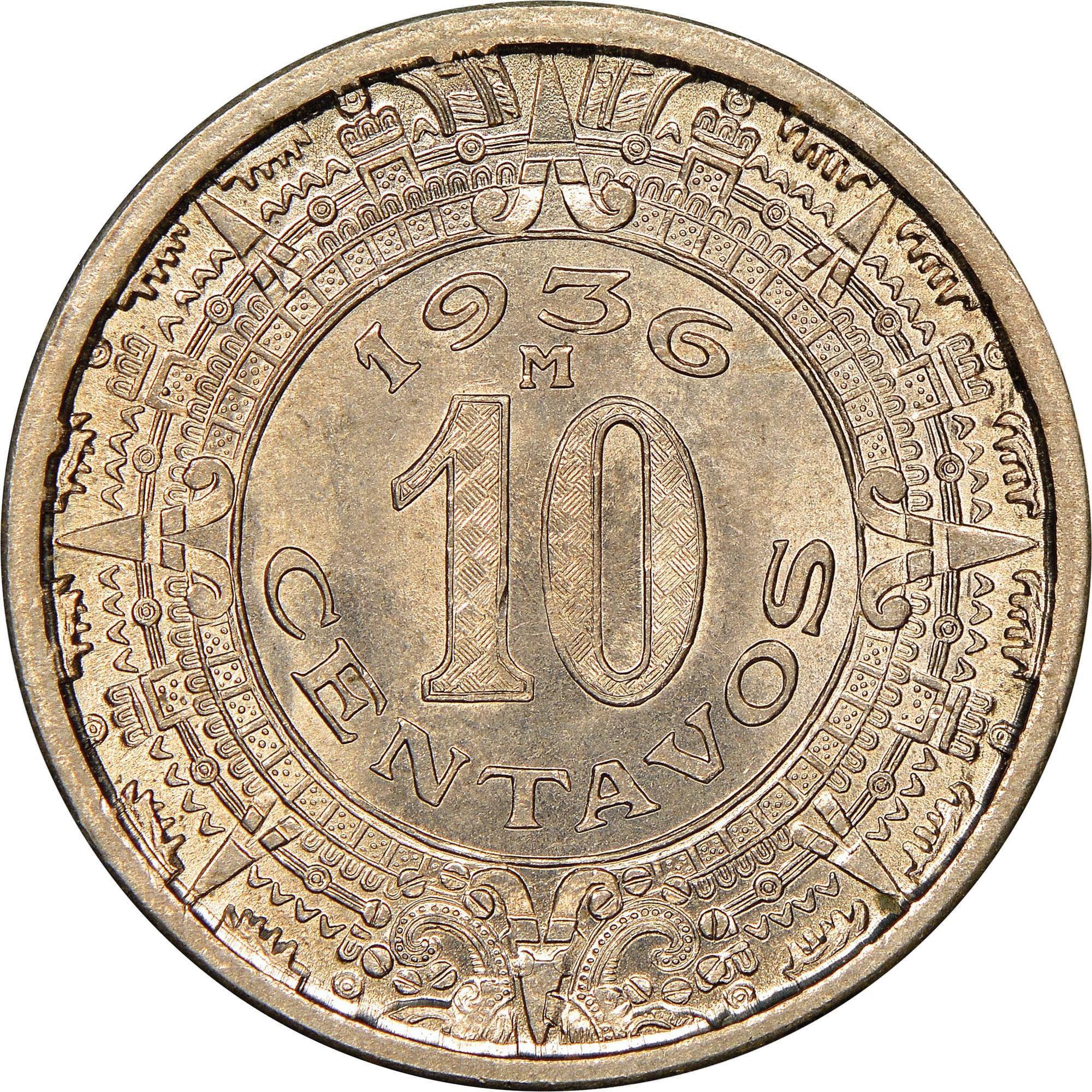 1946 10 Centavos Mexico Coins: World Mexico (1905-now)