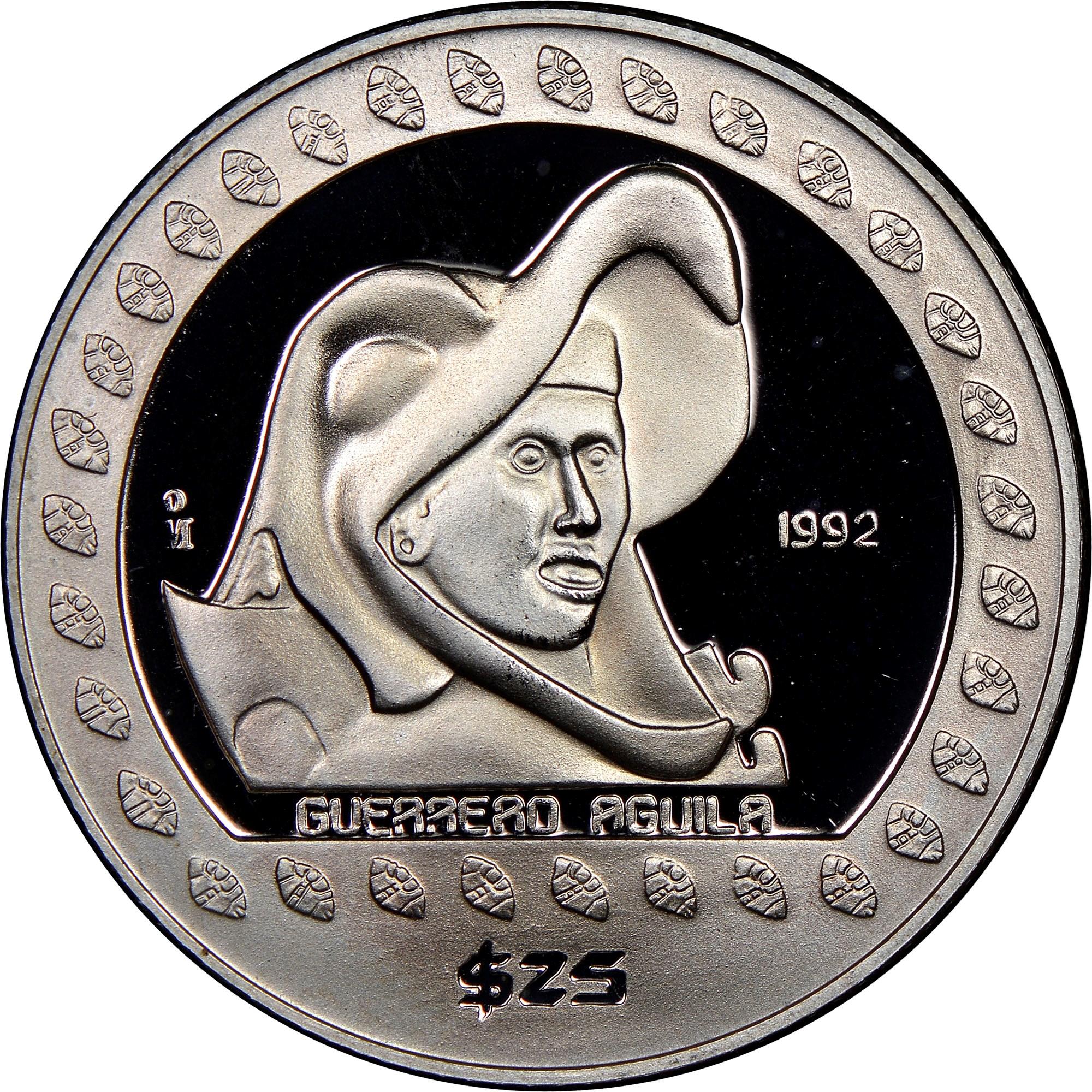 Mexico ESTADOS UNIDOS MEXICANOS 25 Pesos reverse