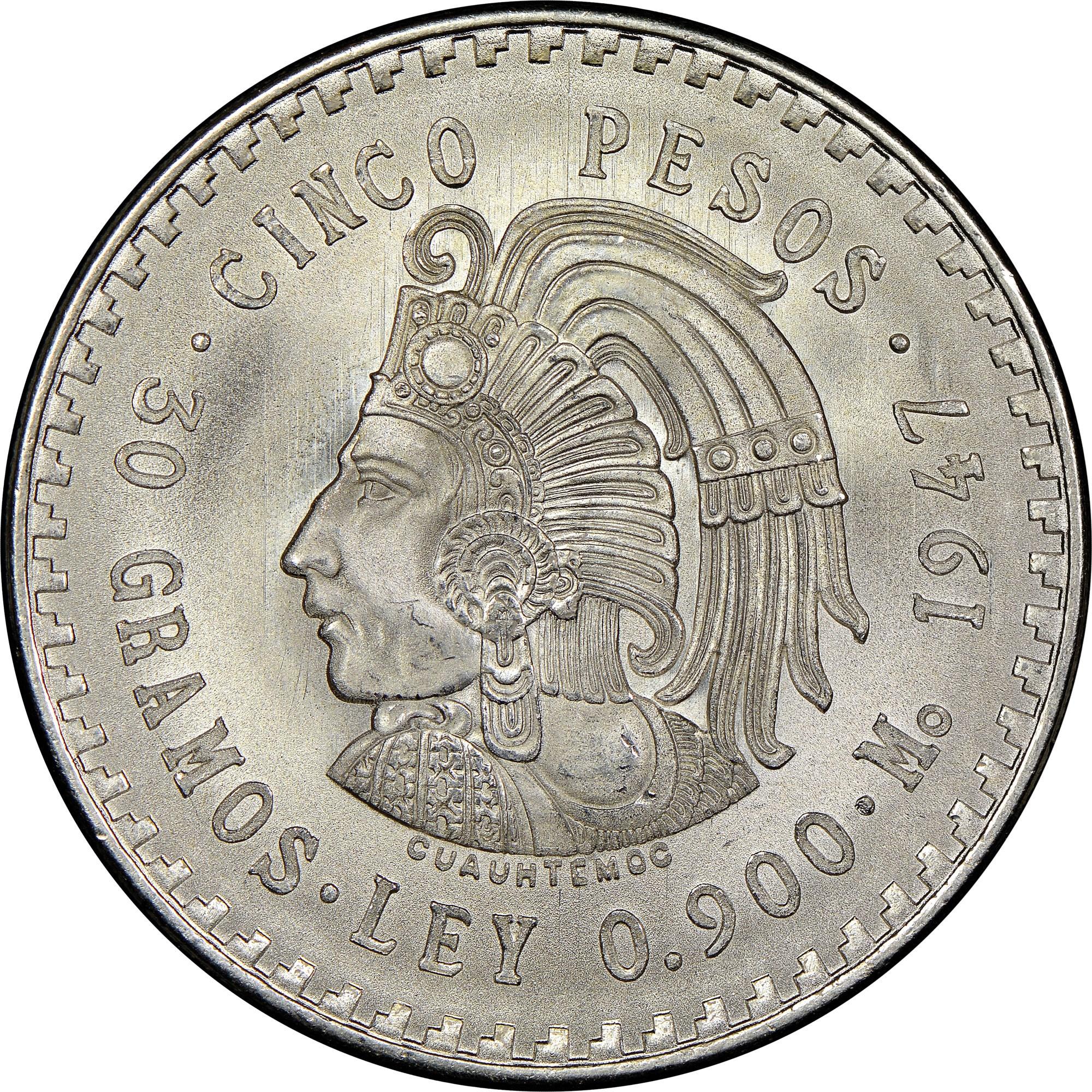 Mexico ESTADOS UNIDOS MEXICANOS 5 Pesos KM 465 Prices