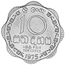 Sri Lanka 10 Cents obverse