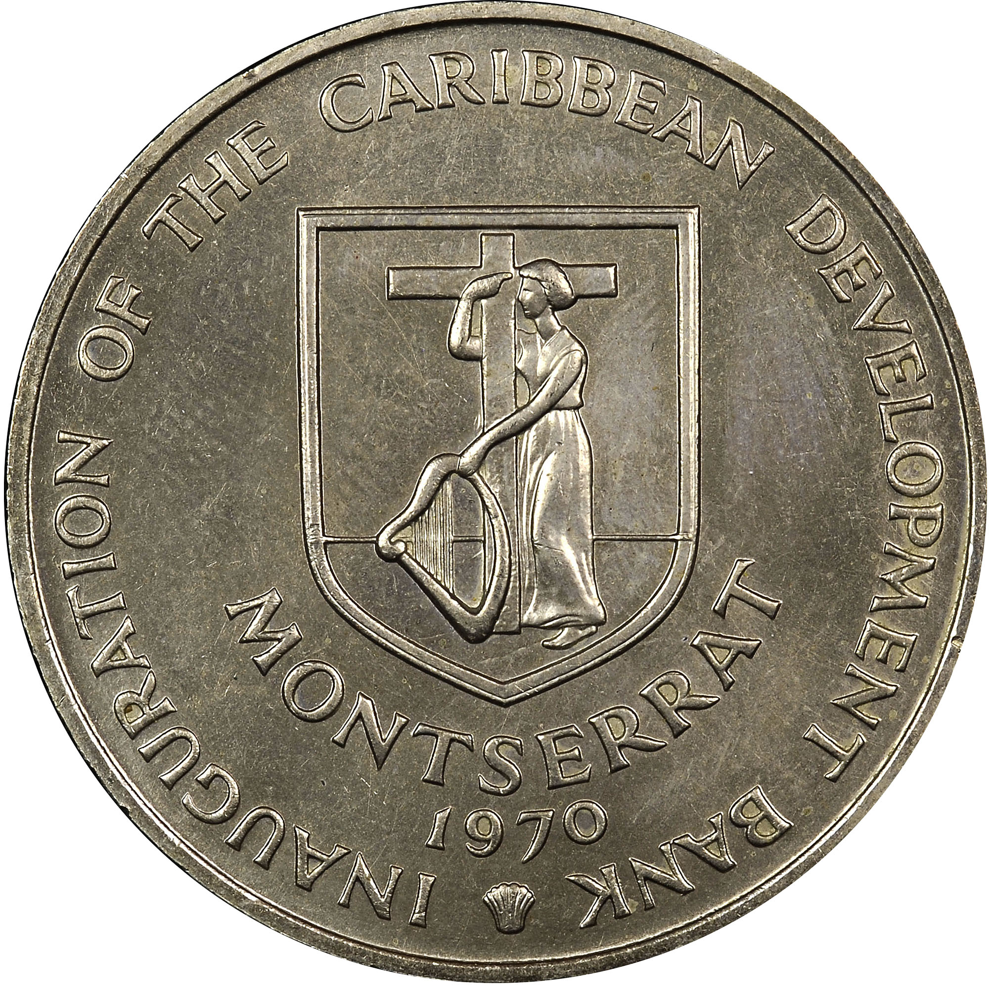 Montserrat 4 Dollars obverse